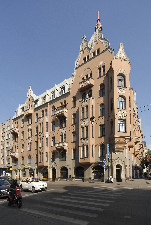 Épületek a lett fővárosban