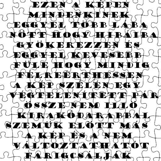 Sós Dóra Gabriella: Puzzle (vizuális költemény)