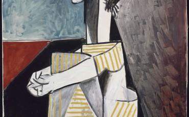 Pablo Picasso_ Jacqueline osszetett karral 1954