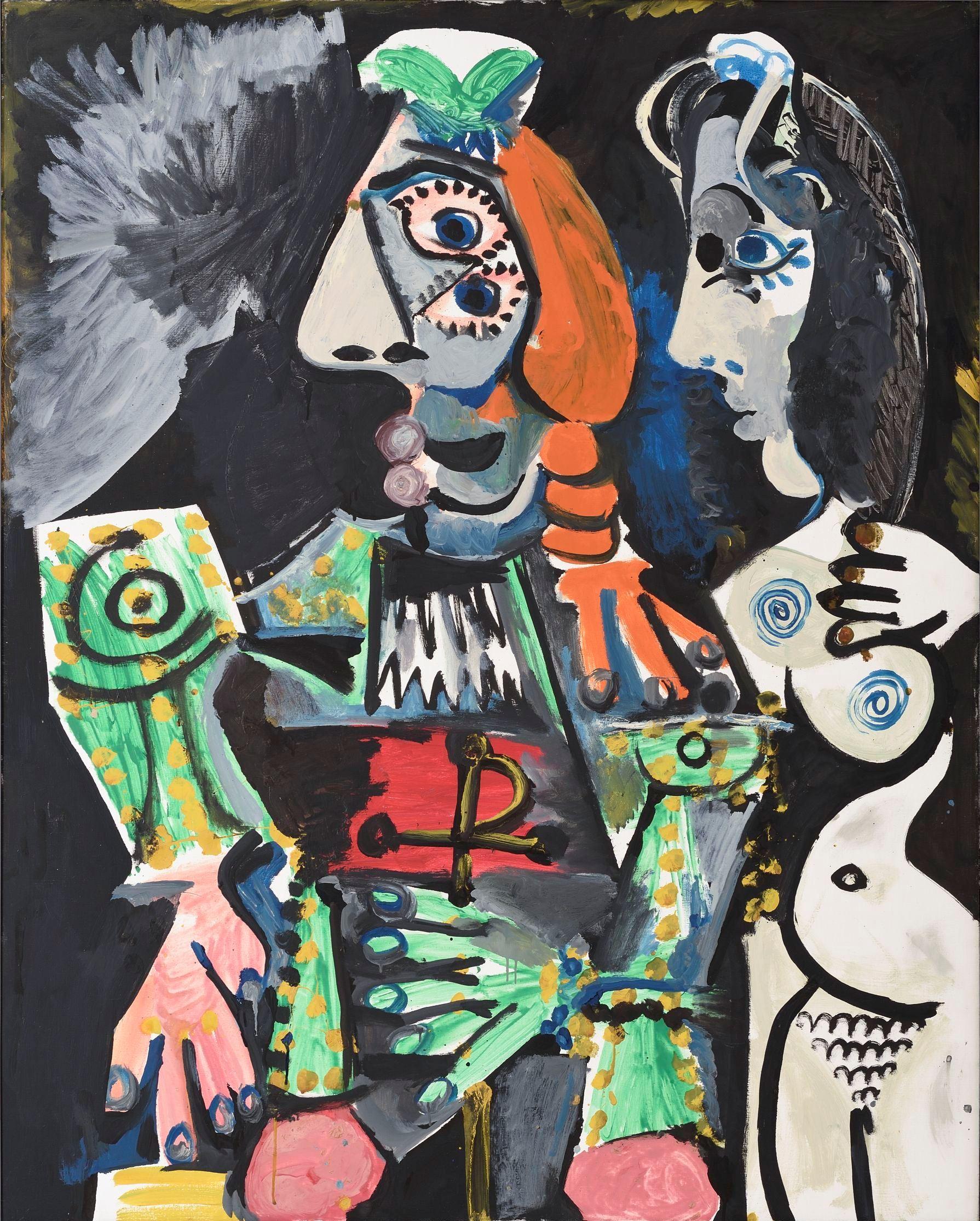 Pablo Picasso Matador meztelen nővel, 1970 (Matador et femmenue) vászon, olaj, 162 x 130 cm Ludwig Múzeum – Kortárs Művészeti Múzeum (Peter és Irene Ludwig adománya, 1989) fotó: Rosta József / Ludwig Múzeum – Kortárs Művészeti Múzeum © Succession Picasso
