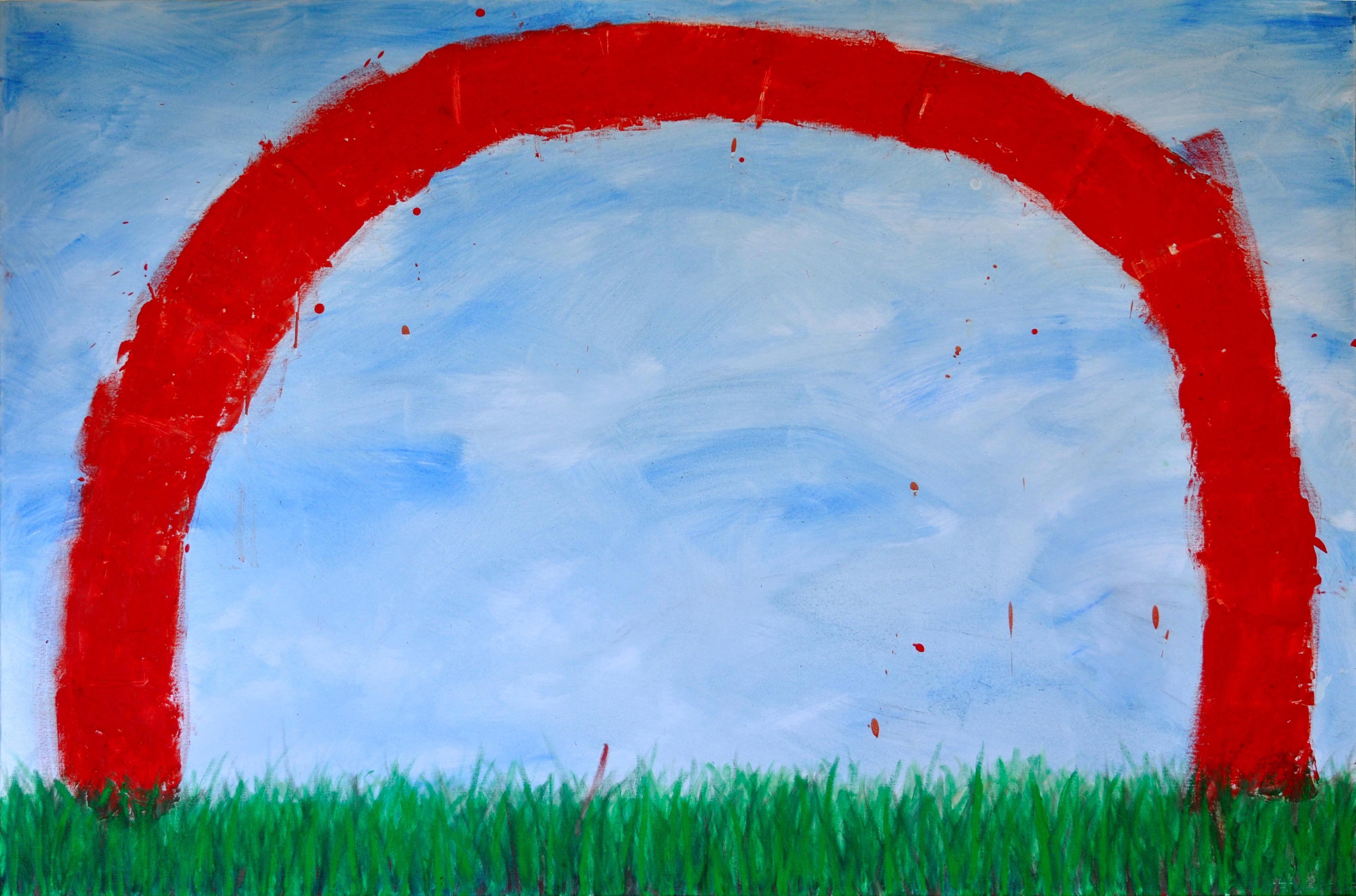 A nagy mászóka (100x150, olaj, méhviasz, vászon, 2012)