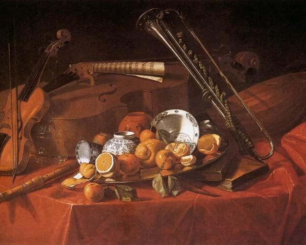 Cristoforo_Munari_-_Still-Life_with_Musical_Instruments_- birtalan ferenc verseihez