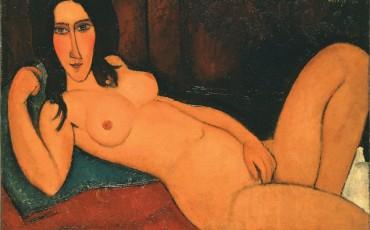 Modigliani_Fekvo akt kibontott hajjal 1917