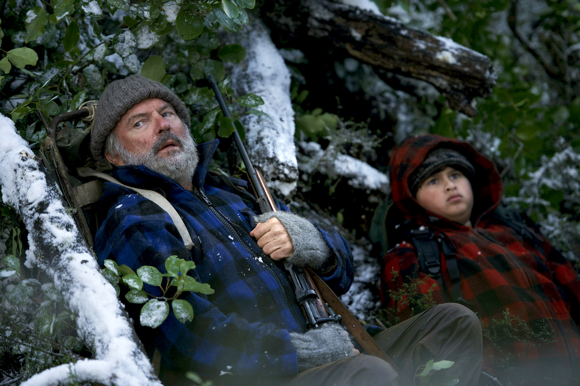 "Sam Neill (Hec) and Julian Dennison (Ricky) in ""Hunt for the Wilderpeople."" MUST CREDIT: The Orchard"