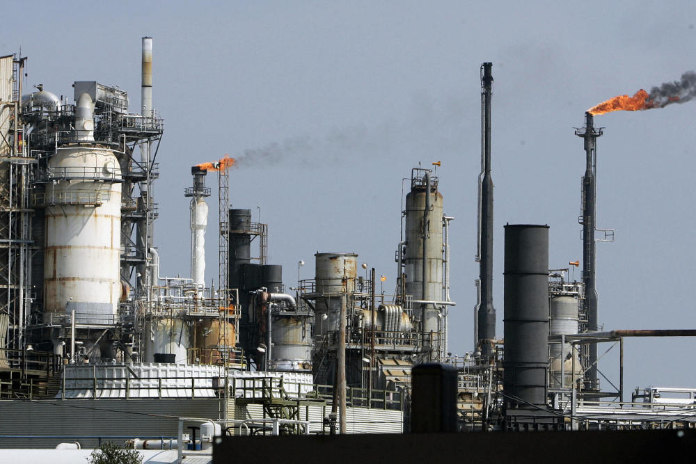 An oil refinery is pictured 22 September