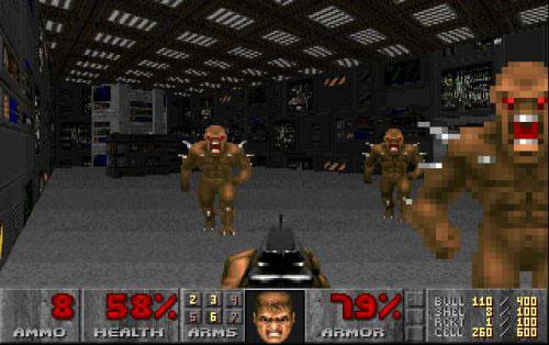 az egyik első first-person shooter: a Doom