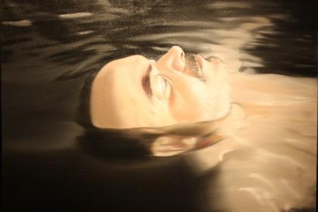 Fehér László: Önarckép vízben lebegve