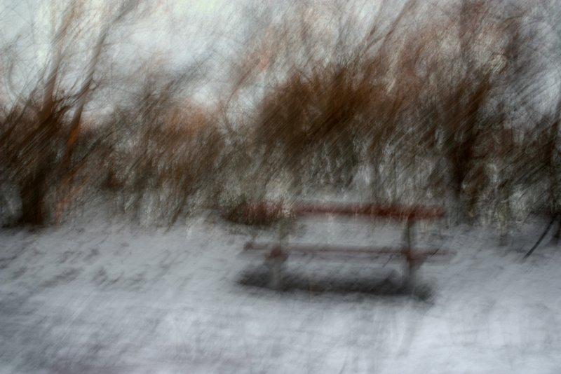 Csonka Zoltán egyik képe a Téli rajzok című kiállításról