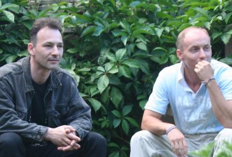 Jobbra Málik Roland és balra Nyilas Atilla (Pilisborosjenő, 2008) Fotó: Mester Zsuzsa
