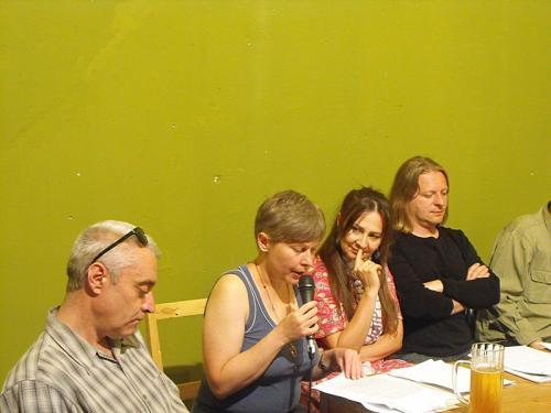 (balról) Ménes Attila, Harangi Andrea, Halász Margit, Hazai Attila