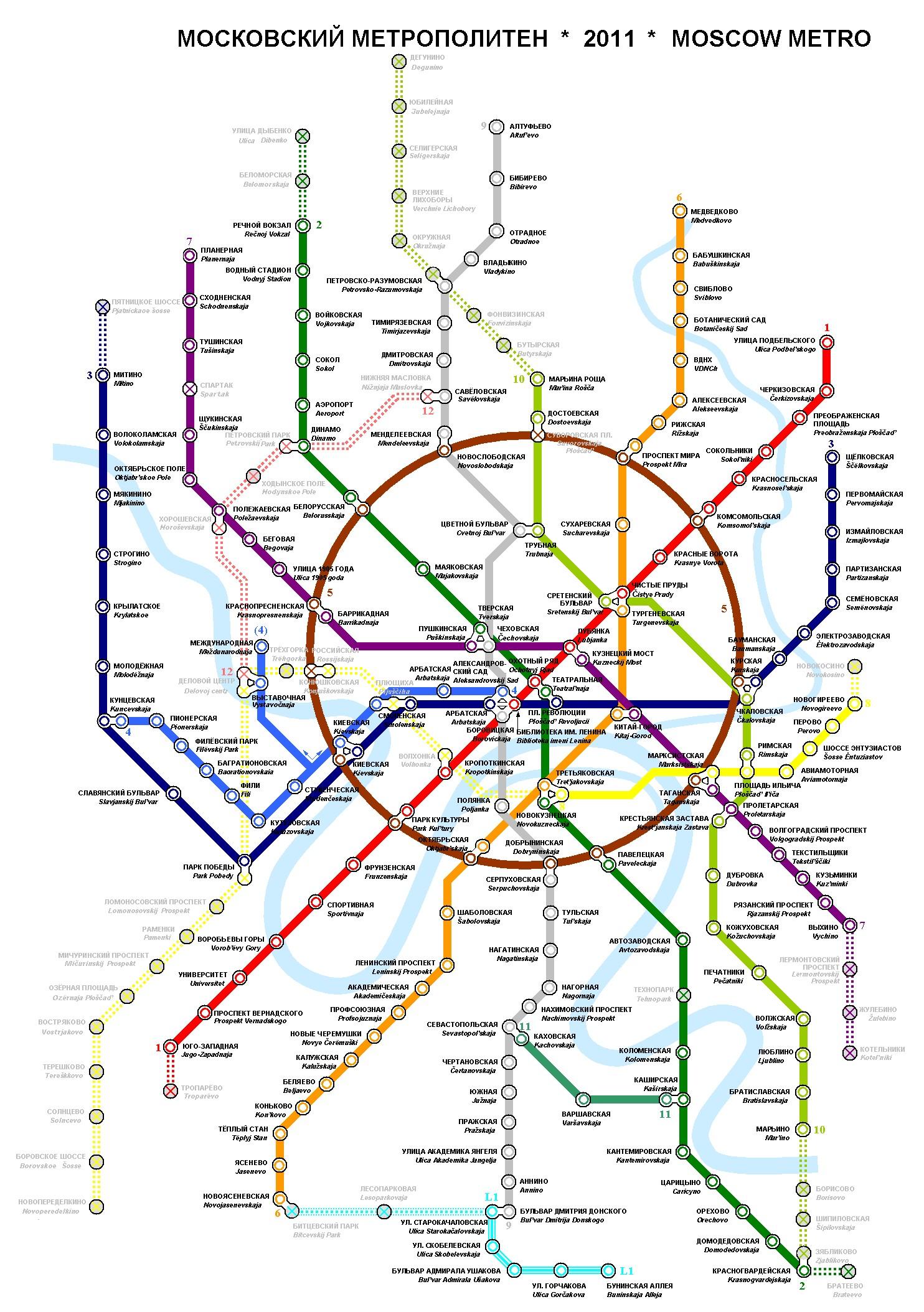 Moszkva metróhálózata